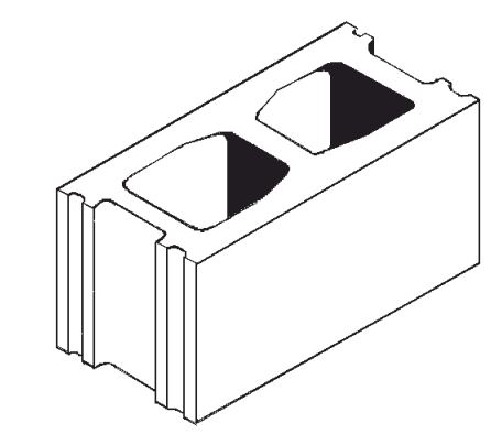 """Expocrete Standard Concrete Block 20 cm / 8"""""""