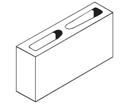 """Expocrete Standard Concrete Block 10 cm / 4"""""""