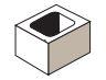 Expocrete Half Concrete Block 25 cm / 250 mm