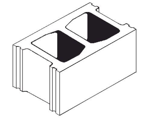 Expocrete Standard Concrete Block 25 cm / 250 mm