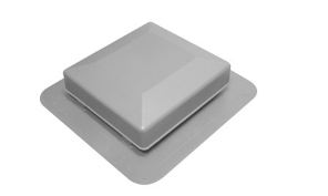 Gray Square Top Roof Vent