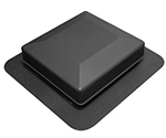 Black Square Top Roof Vent