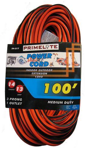 100 Feet Medium Duty Extension Cord