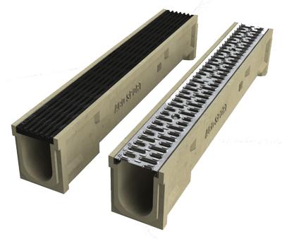 ACO 495Q Grey Plastic Longitudinal Grate