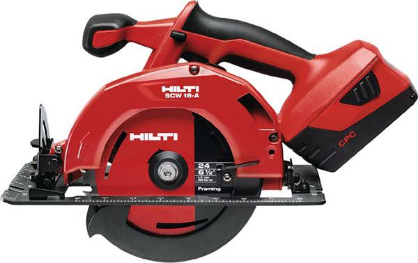 "Hilti SCW 18A Cordless Circular Saw, 6-1/2"""