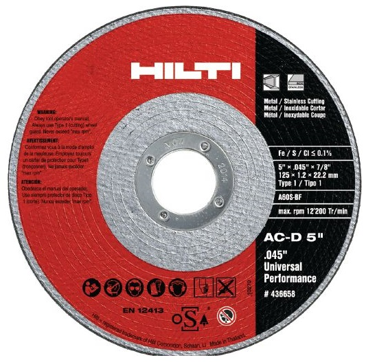Hilti Cut-Off Wheel Type UP