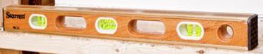 """Starrett Brass Bound Wood Level 24"""""""