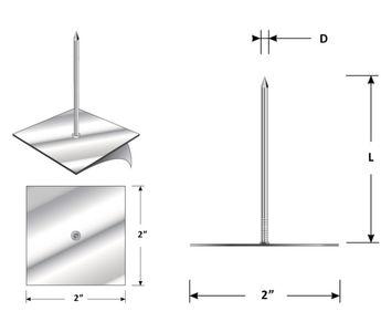 "Continental Decon Insulation Anchor, 3 1/2 ""SAD"