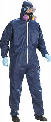 Coverall Disposable XL Blue Breathable