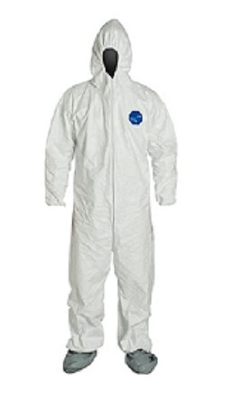 Tyvek Coverall w/Hood XL White