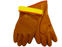 Glove PVC Brown Lined