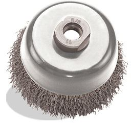 Pearl Abrasive Crimped Wire Cup Brush