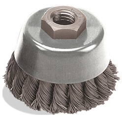 Pearl Abrasive Cup Brush 2-3/4x5/8 Knot Wire CLWBK5B