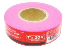 Task Tools Pink PVC Flagging Tape