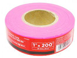 Task Tools Pink PVC Flagging Tape