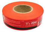 Task Tools Orange PVC Flagging Tape