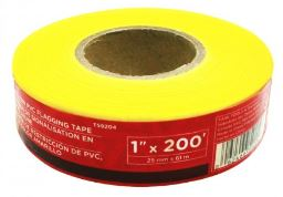 Task Tools Yellow PVC Flagging Tape