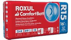 Roxul ComfortBatt, Steel Stud, R14, 3.5x16.25x48
