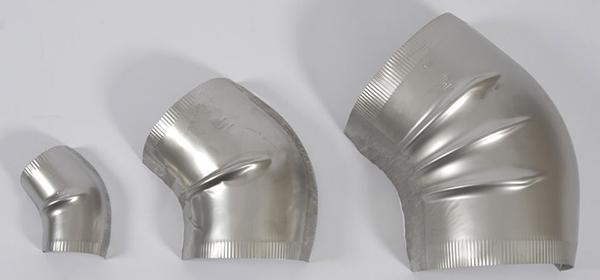 Aluminum elbow gore