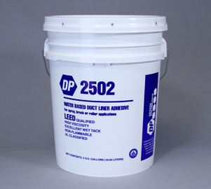Design Polymerics WB Duct Liner Adhesive, 2502, Black 18.93L
