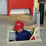Bilco K4 Aluminum Floor Door, Non Drainage, 36x36
