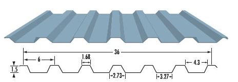Westform Metals WF-636-R Cladding Reverse