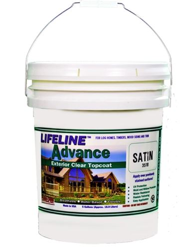 Perma-Chink Lifeline Advance Satin Topcoat, 18.93 L