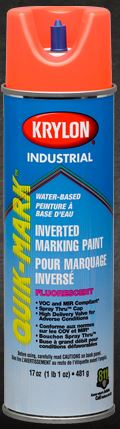 Krylon Quik-Mark Inverted Marking Paint 17 Ounces