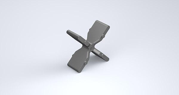"""Rebar Chair Cross, 1"""", Plastic"""