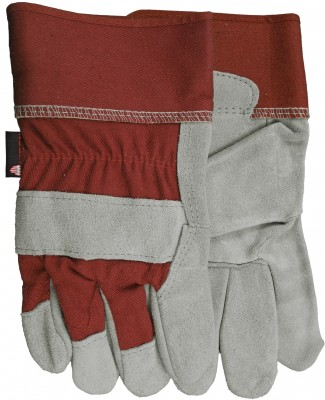 Pair of Grey/red Watson Mean Mother Gloves