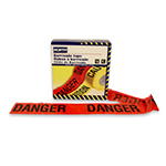 "Danger Barricade Tape, 3""x1000' Red CT3RE9"