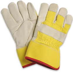 Pair of Yellow/Grey North Winter Fitters Gloves