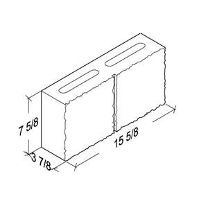 Mutual Materials Split Face L-Corner, 4x8x16