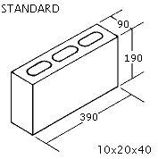 "OK Builders Standard Concrete Block 4"" x 8"" x 16"""