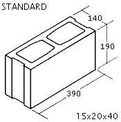 "OK Builders Standard Concrete Block 6"" x 8"" x 16"""