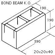"""OK Builders KOBB 8"""" x 8"""" x 16"""""""