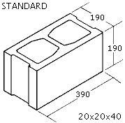 "OK Builders Standard Concrete Block 8"" x 8"" x 16"""