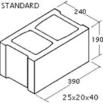 "OK Builders Standard Concrete Block 10"" x 8"" x 16"""