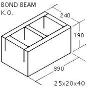 """OK Builders KOBB 10"""" x 8"""" x 16"""""""