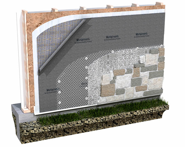 Advanced Building Products Mortairvent Rainscreen