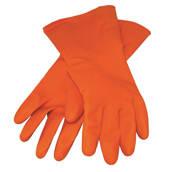 Kraft Orange Rubber Gloves