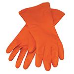 Kraft Orange Rubber Gloves
