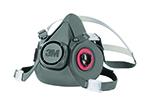 3M Half Mask Respirator, 6300 Large