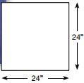Brickform Slate Tile Mat 2'x2'