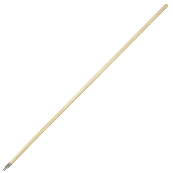 5 ft. Metal Thread Wood Broom Handle