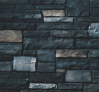 Cultured Stone Country Ledge Black Rundle