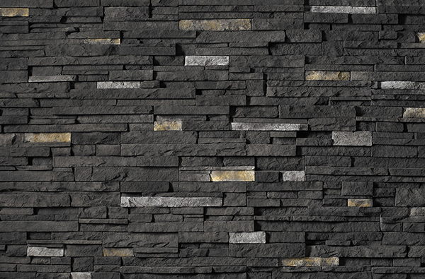 Cultured Stone ProFit Alpine, Black Rundle