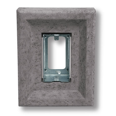 Cultured Stone Receptacle Stone, Gray