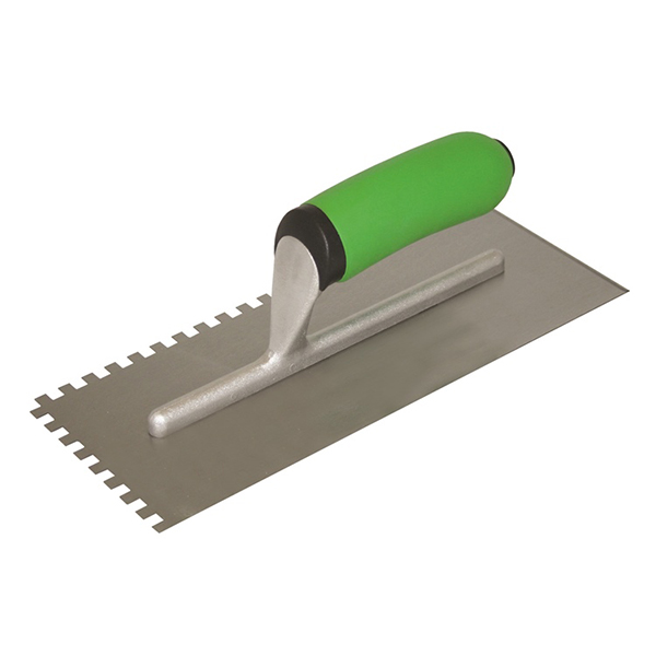 Square-Notch Trowel with Soft Grip Handle